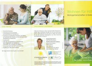 """Faltblatt des Projekts """"Wohnen für Hilfe"""""""